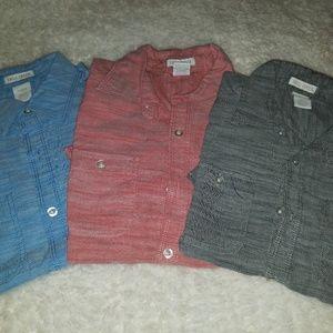 **Bundle** 3 Boys Button down Shirts